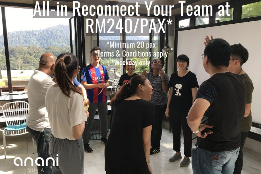 Team Building Package Promotion 2020 - All-in Reconnect Your Team at RM240 per pax